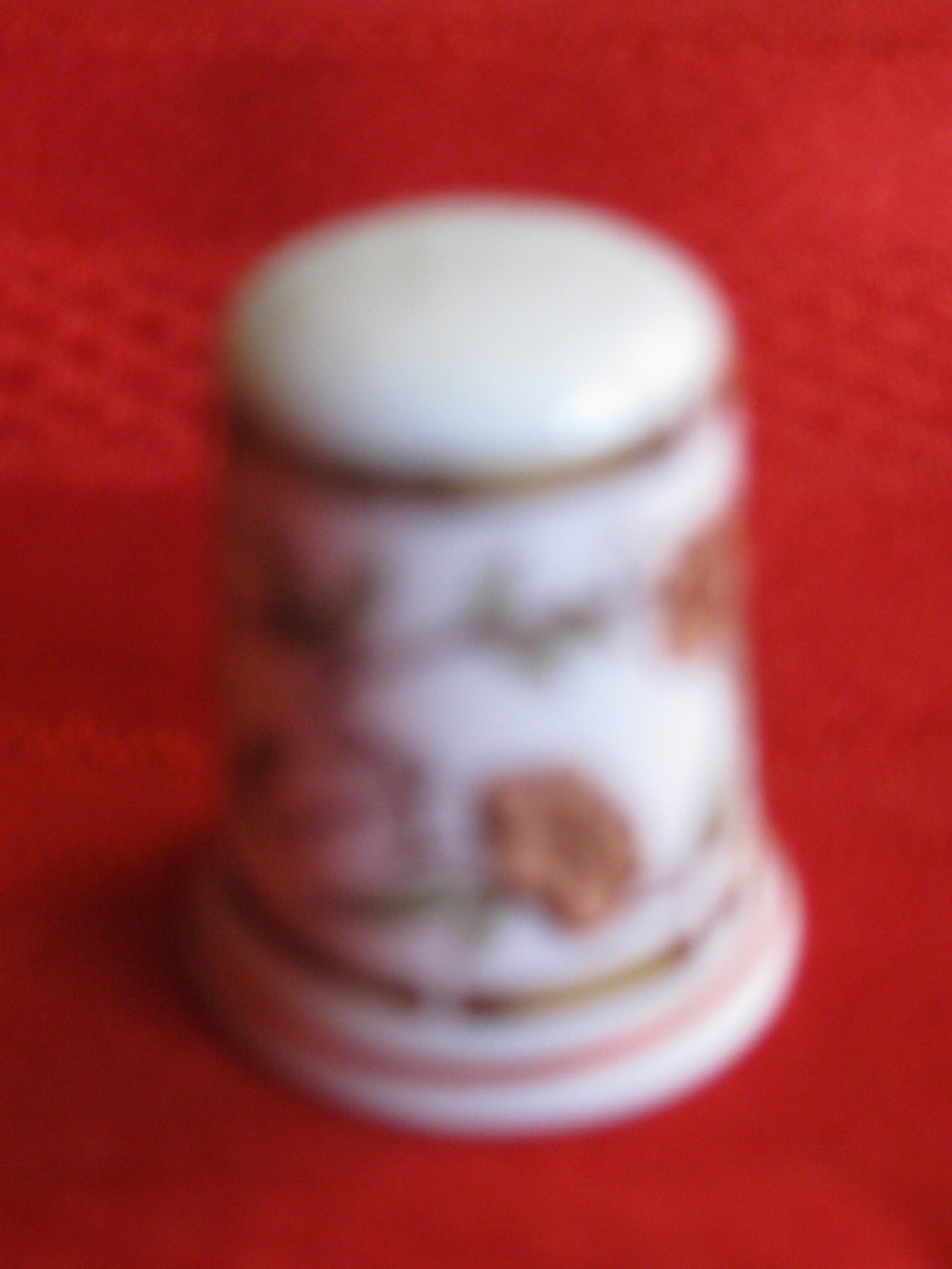 Bamboo Thimble With Flowers by Hammersley Bone China England