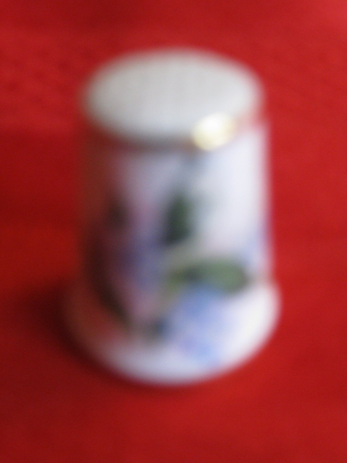 Blossom By Blossom Spring Begins Thimble by Royal Grafton England Blue & White Flowers