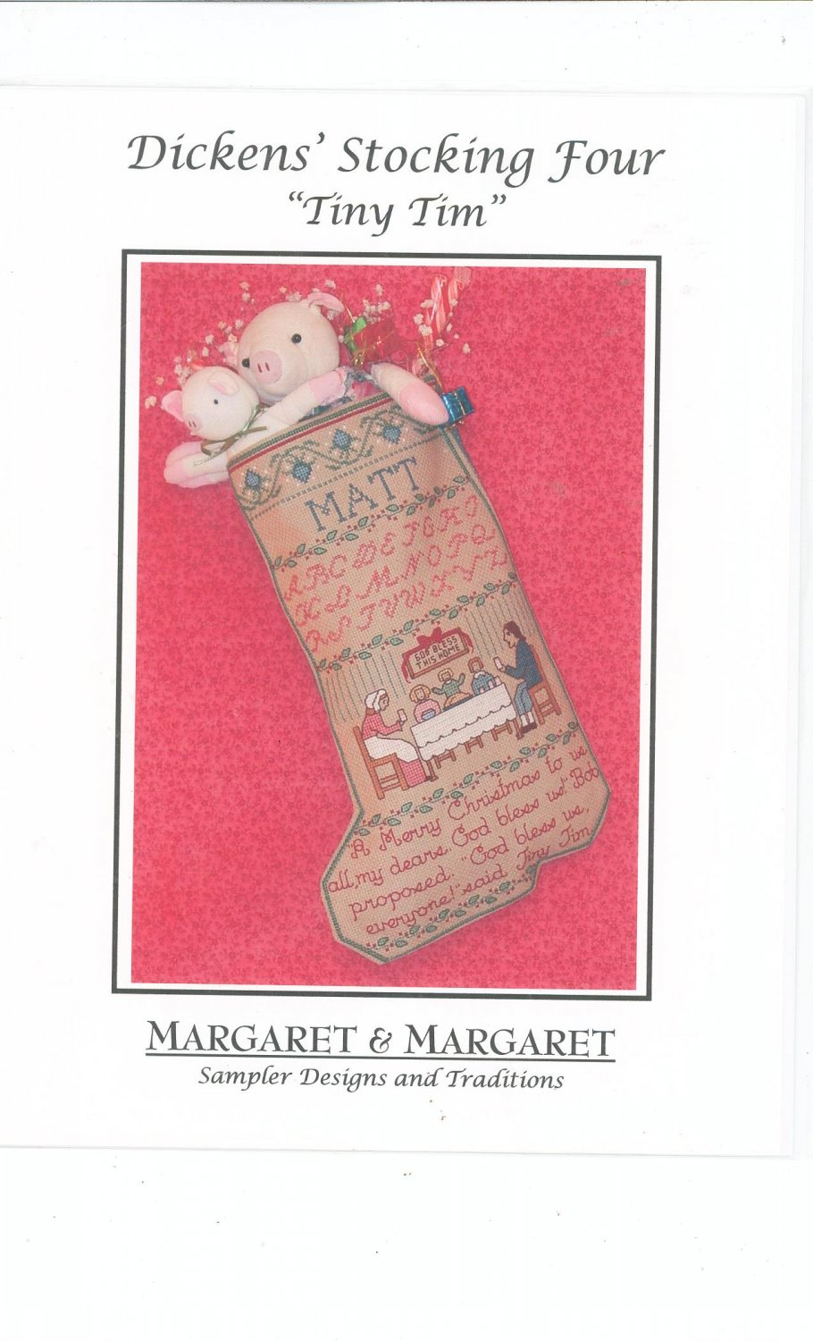 Dickens Stocking Four Tiny Tim by Margaretr & Margaret Sampler Designs & Traditions Cross Stitch