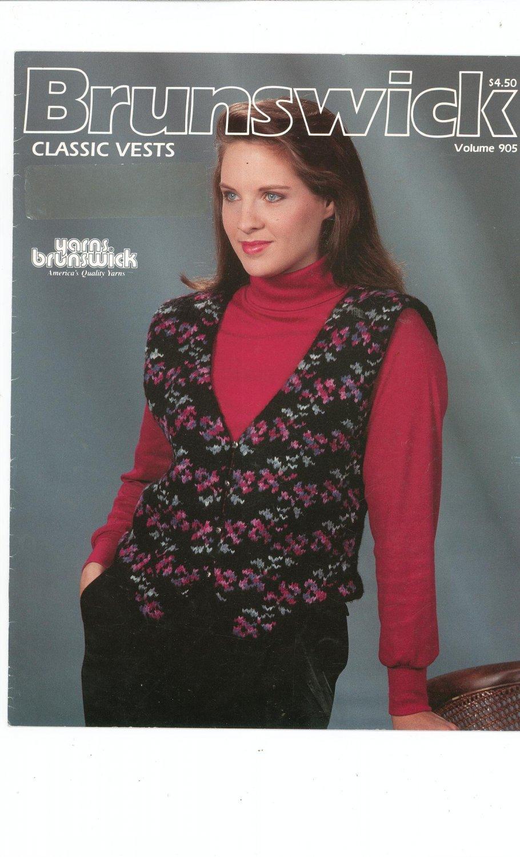 Brunswick Classic Vests Volume 905 Knitting