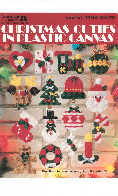 Christmas Cuties In Plastic canvas Needle Work Leisure Arts Leaflet 1468