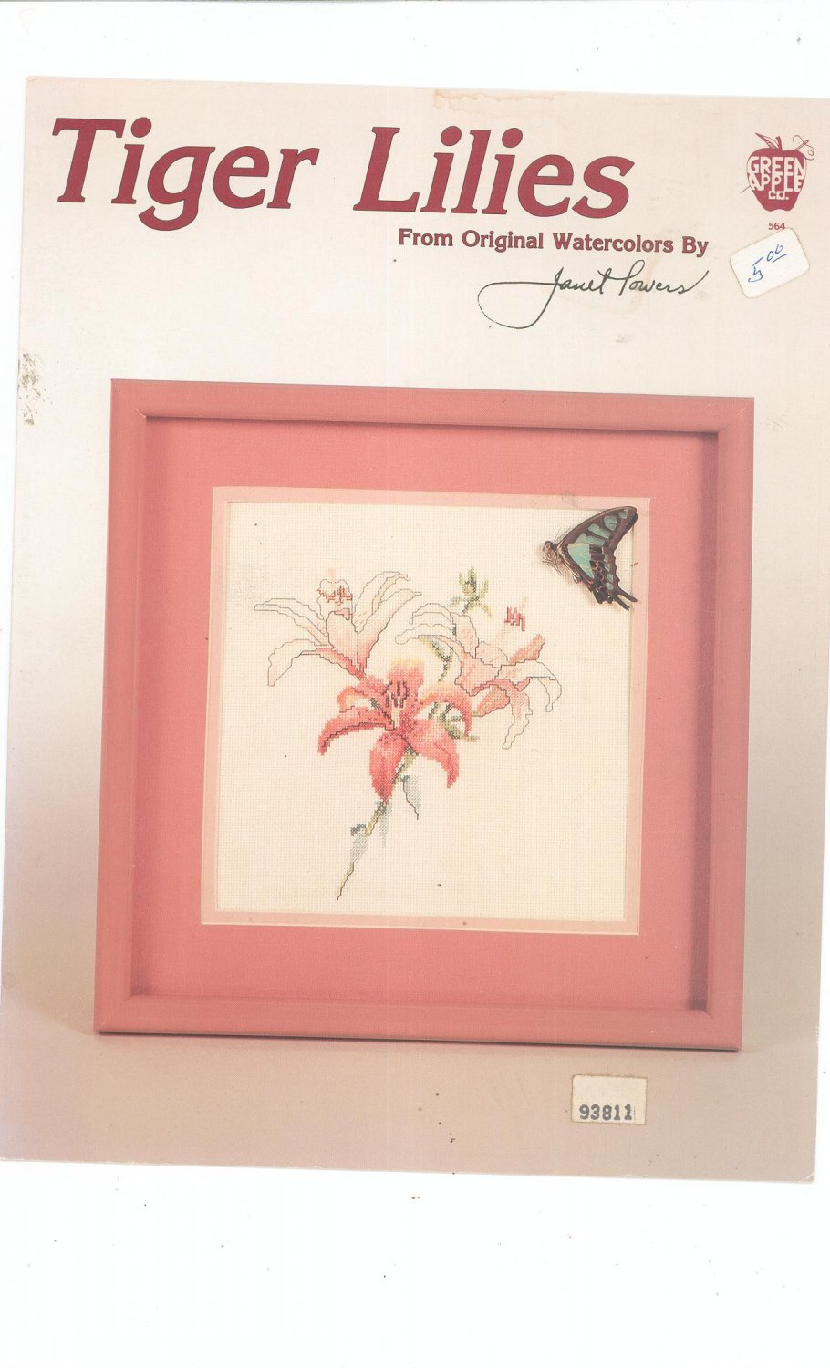 Tiger Lilies From Original Watercolors By Janet Powers Green Apple Co. 564 Cross Stitch