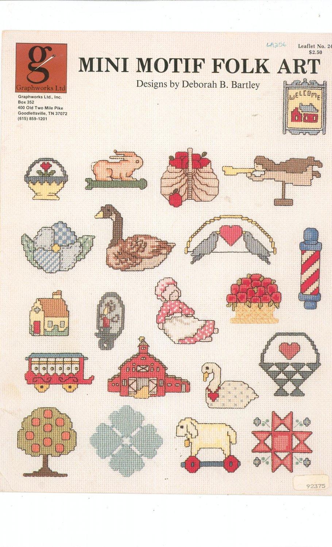 Mini Motif Folk Art Graphworks No. 24 Deborah B Bartley Cross Stitch