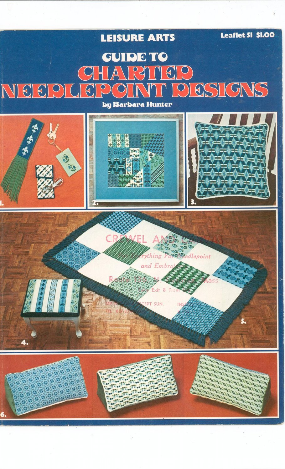 Guide To Charted Needlepoint Designs Barbara Hunter  Needlepoint Leisure Arts 51