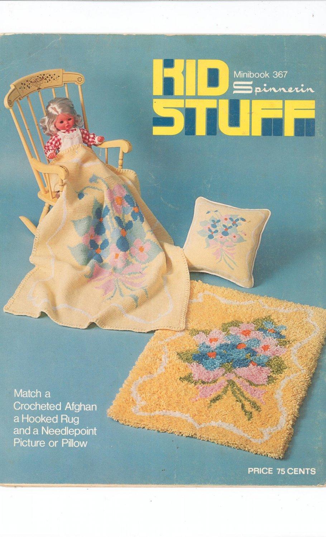 Kid Stuff Minibook 367 by Spinnerin Vintage Craft Pattern  1974
