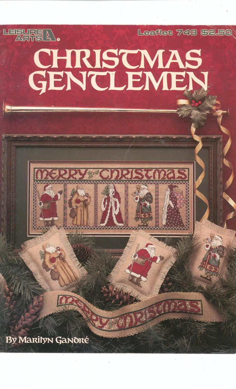 Christmas Gentlemen Cross Stitch by Marilyn Ganore Leisure Arts 743