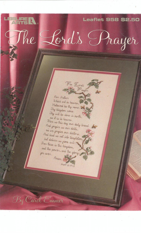 The Lord's Prayer Cross Stitch Leisure Arts 958
