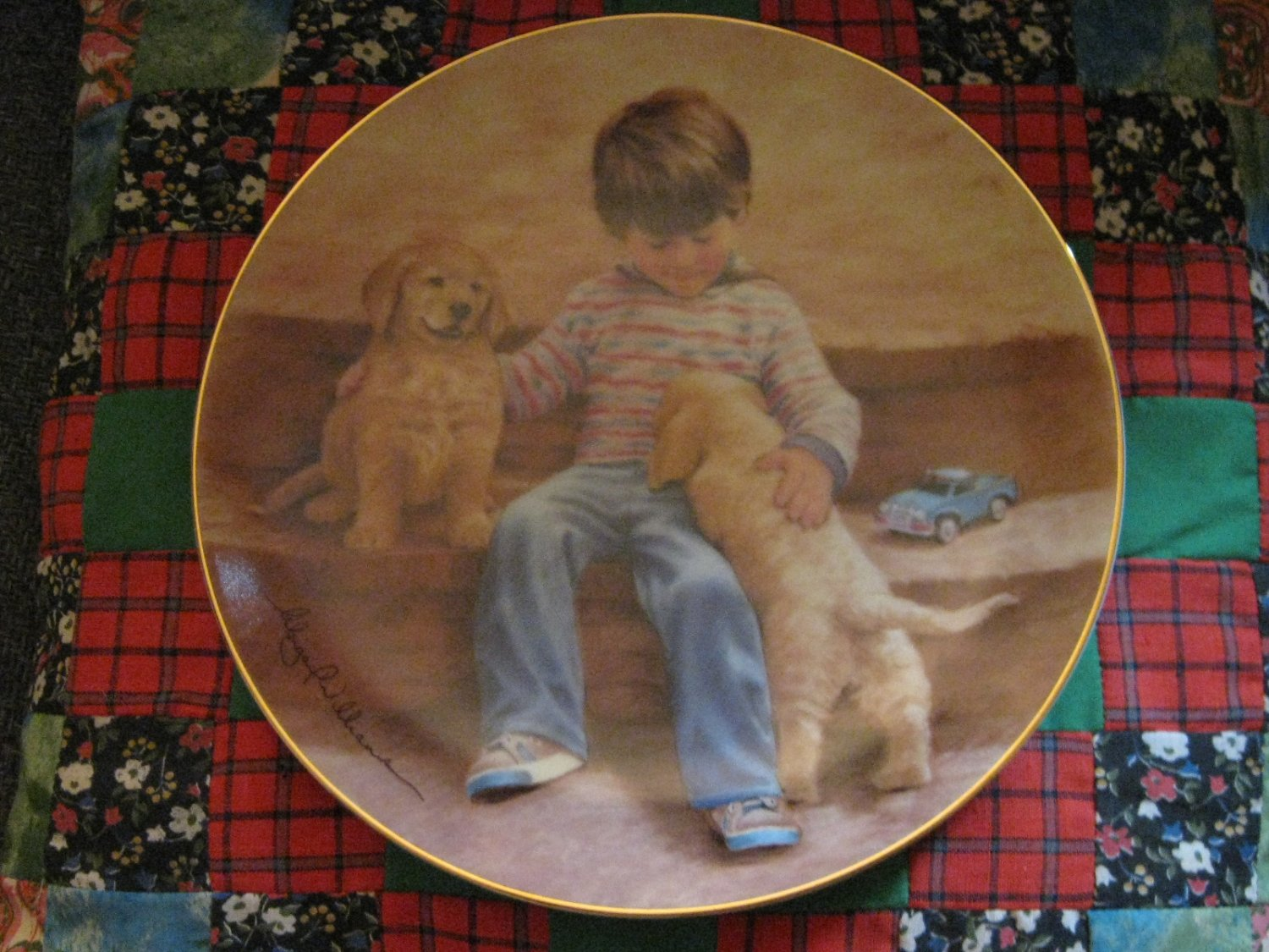 Best Buddies Collector Plate From The Magic Of Childhood Series Abbie Williams Hamilton 1985