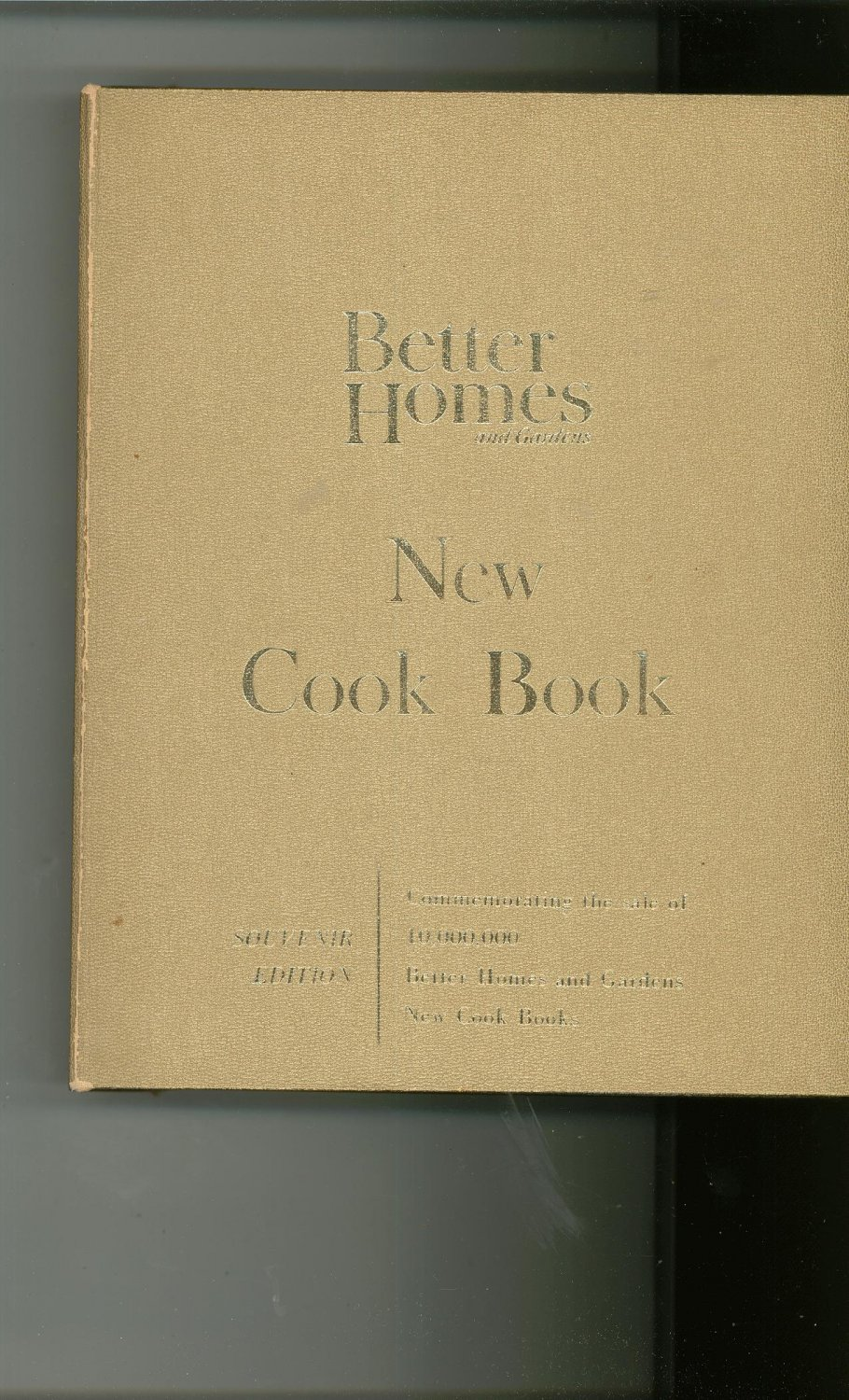 Better Homes And Gardens New Cook Book Gold Souvenir Edition Cookbook Vintage 1965
