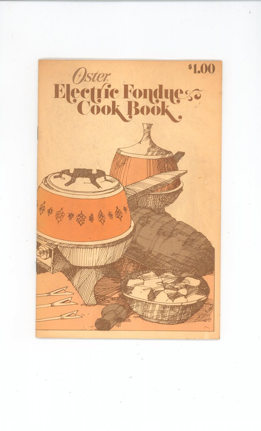 Vintage Oster Electric Fondue Cook Book Cookbook And Instructions