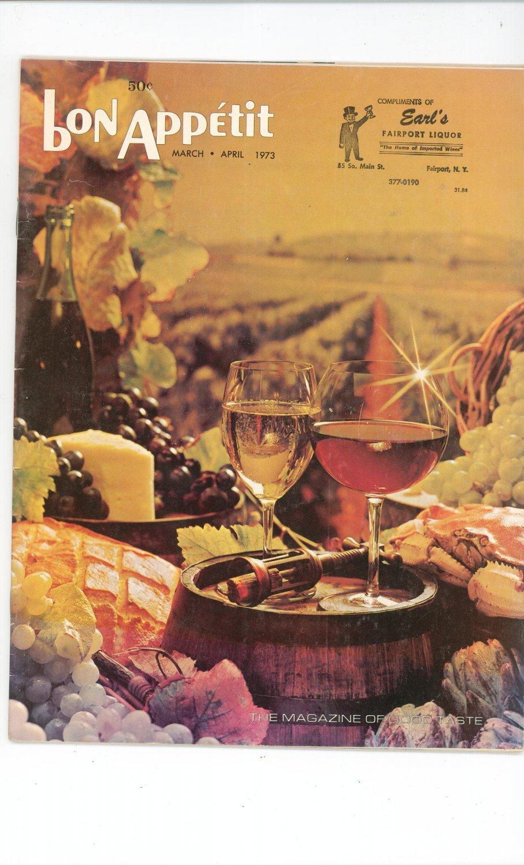 Bon Appetit March April 1973 Cookbook / Magazine Volume 18 Number 2