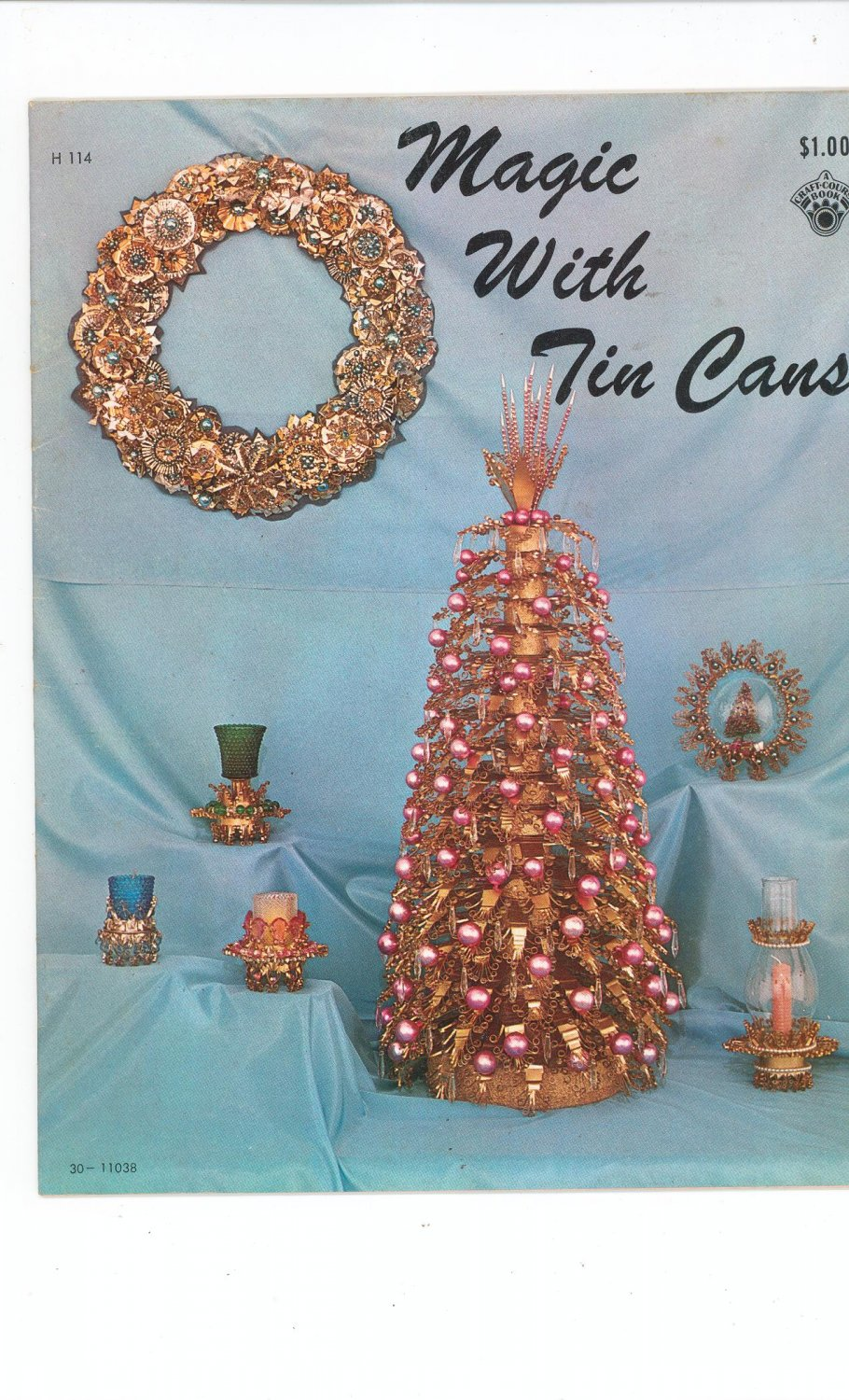 Vintage Magic With Tin Cans Craft Idea Book 1968 Craft Course Publishers H 114