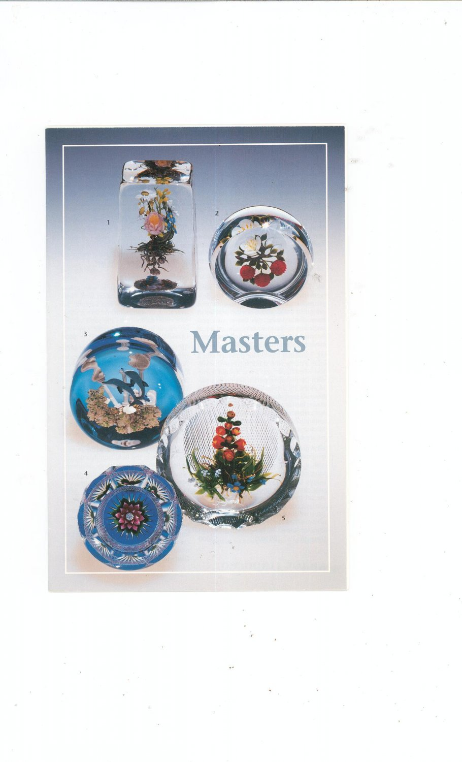 Masters Catalog / Brochure by L. H. Selman Ltd. Paperweights