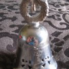 International Silver Christmas 1997 Bell Ornament With Wreath Handle