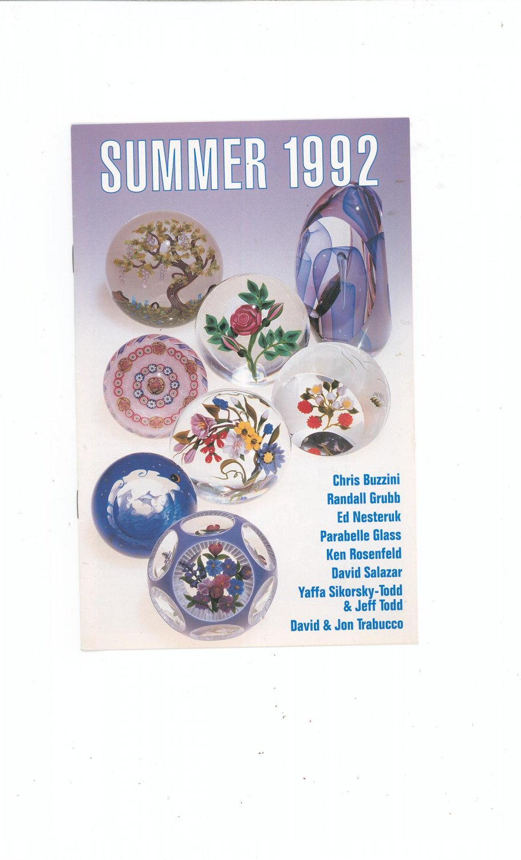 Summer 1992 Catalog / Brochure by L. H. Selman Ltd. Paperweights