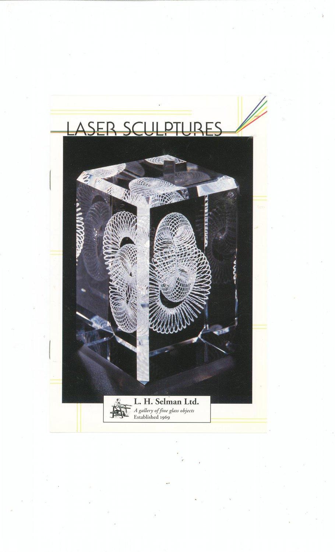 Laser Sculptures Catalog / Brochure by L. H. Selman Ltd. Paperweights