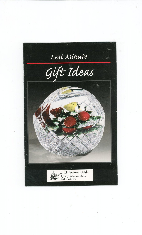 Last Minute Gift Ideas Catalog / Brochure by L. H. Selman Ltd. Paperweights