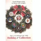 Holiday Collection 1992  Catalog / Brochure by L. H. Selman Ltd. Paperweights