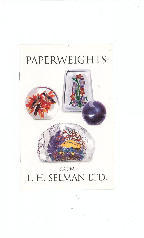 Paperweights Catalog / Brochure by L. H. Selman Ltd.