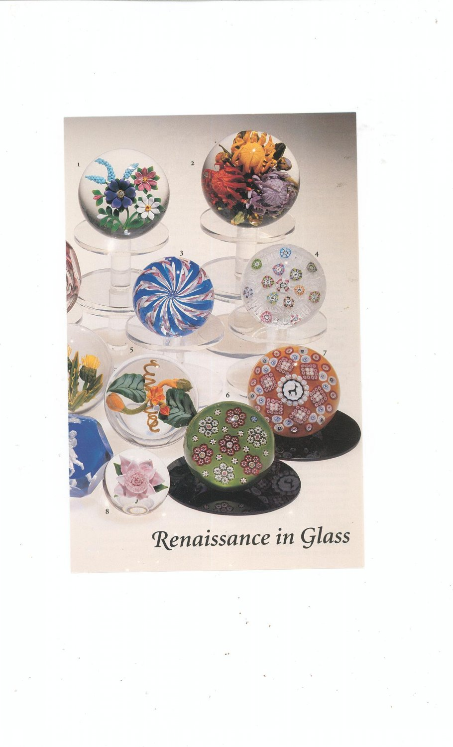 Renaissance In Glass Catalog / Brochure by L. H. Selman Ltd. Paperweights