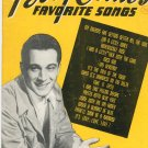 Perry Como's Favorite Songs Vintage Words & Music