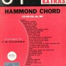 34 Hit Parade Extras Hammond Chord Organ by J. M. Hanert Words & Music Vintage