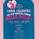 Vintage Hello Dolly Jerry Herman Sheet Music 1963