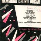 Vintage Melodic Interpretations For Hammond Chord Organ Music Book Rosa Rio 1960