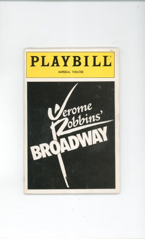 Playbill Jerome Robbins' Broadway Imperial Theatre  Play Bill Souvenir