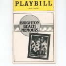 Playbill Brighton Beach Memoirs Alvin Theatre Play Bill Souvenir
