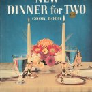 Vintage Betty Crocker's New Dinner For Two Cook Book Cookbook Vintage First Edition First Printing