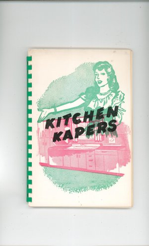 Regional Kitchen Kapers Cookbook Chapin Methodist Church 1951 New York