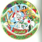 Looney Tunes Christmas Limited Edition Collector Plate Merry Christmas  1991