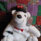Coca Cola Bean Bag Plush 0140 Bear Drivers Cap Bowtie With Tag