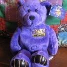 Minnesota Vikings NFL Edition Moss 84 Bear Plush Beanie With Hang Tag