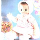 Soft 'N Sweet Doll Featuring Soft Sculpture Moveable Parts MM771 With Pattern Sheet