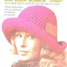 Hats To Crochet And Knit Of Rug Yarn Columbia Minerva Leaflet 2542