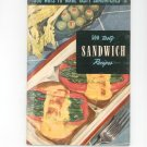 500 Ways To Make Tasty Sandwiches #14 Cookbook Vintage 1950 Culinary Arts Institute