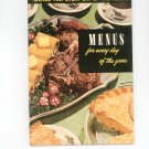 Menus For Every Day Of The Year #24 Reference / Guide Vintage 1950  Culinary Arts Institute