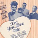 Vintage Do You Love Me Sheet Music By Harry Ruby Bregman Vocco & Conn