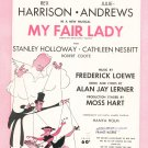 Vintage Wouldn't It Be Loverly My Fair Lady Sheet Music Chappell & Co. Lowal Corporation
