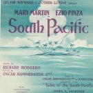 Vintage Younger Than Springtime South Pacific Sheet Music Williamson Music Inc.