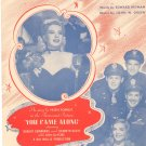 Vintage You Came Along Sheet Music Famous Music Corp.