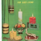 Vintage Creating Candles For Easy Living Craft Course Book H-187