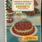 Vintage Favorite Recipes Of Lutheran Ladies Desserts & Party Beverages Cookbook 1967