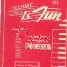 Vintage Technic Is Fun Preparatory Book by David Hirschberg 1948