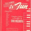Vintage Technic Is Fun Book Three by David Hirschberg Music Book 1944