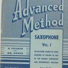 Vintage Rubank Advanced Method Saxophone  Vol. 1 Library No. 93