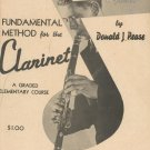 Vintage Universal's Fundamental Method For The Clarinet by Donald J. Pease