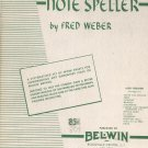 Vintage Clarinet Note Speller by Fred Weber Belwin 1951